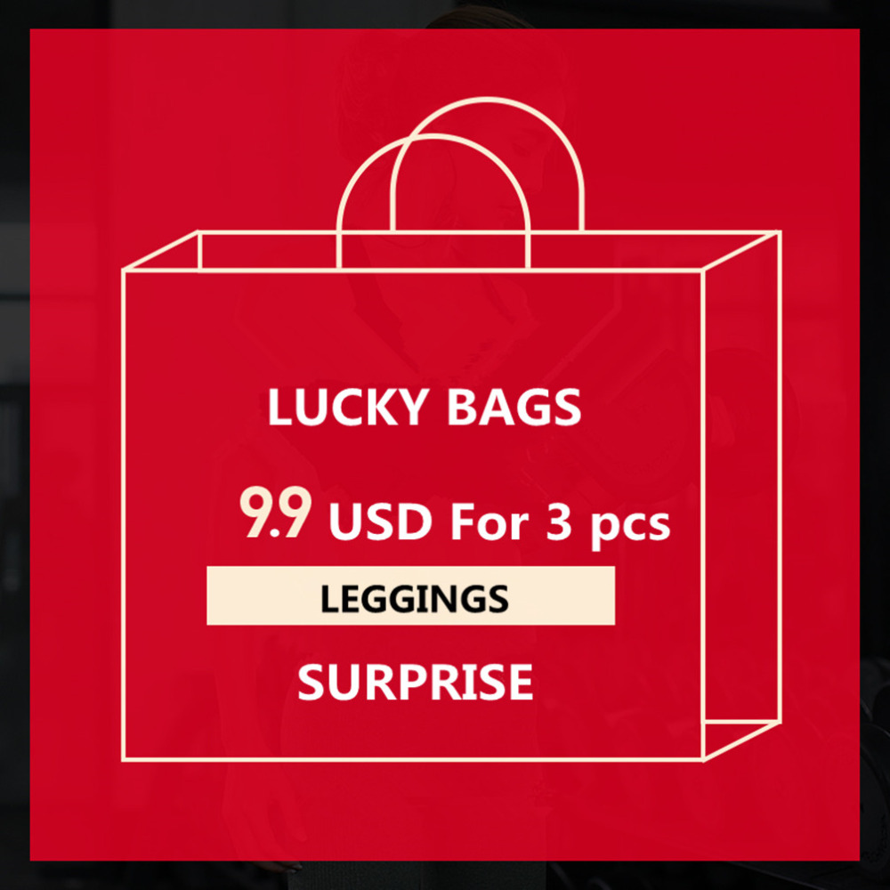 {Qickitout leggings} BIG SURPRISE Women workout leggings 3 pcs fitness elastic leggings Lucky Bags Year-end Benefits S-XXXXL