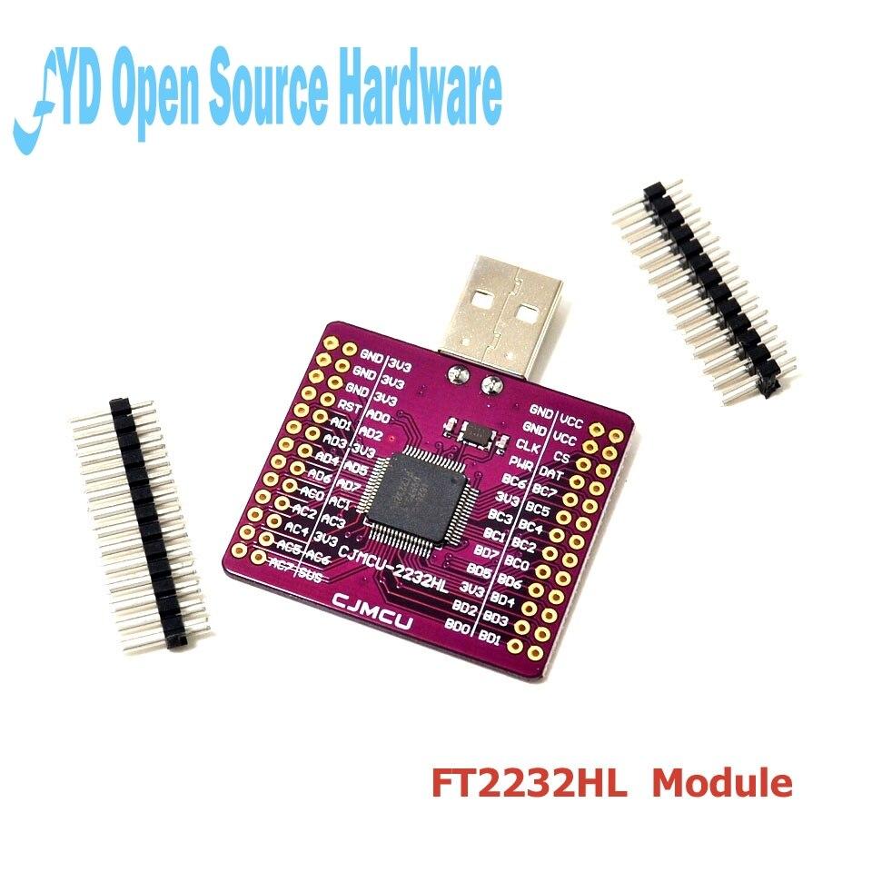 ft2232hl - CJMCU-2232 FT2232HL USB to UART FIFO SPI I2C JTAG RS232 module