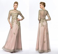 Sheath Floor Length Gold Mother of the Bride Dresses Pant Suits Plus Size Groom Long Sleeve Brides Mother Dresses for Weddings
