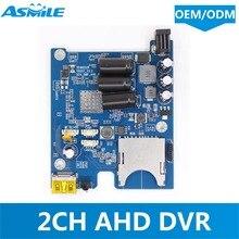 NEUE heiße verkauf Asmile echtzeit 2CH Mini AHD DVR PCB Bord bis zu 1080 p und 30fps unterstützung 256 gb sd Karte