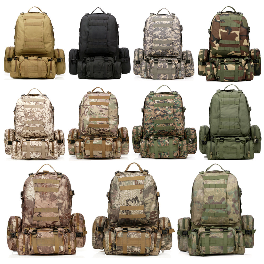 NEW & High Quality 50L Men Man Backpacks Molle Assault Tactical Outdoor Military Rucksacks Backpack Camping Bag Large 9 colors new 50l molle high capacity tactical backpack assault outdoor military rucksacks backpack camping hunting bag
