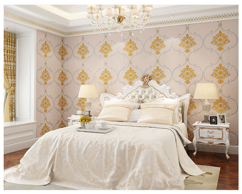 design of atmospheric living room tv background wall   beibehang wall paper Fashion deerskin modern minimalist TV ...