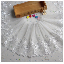 Lace accessories skirt hem lace organza embroidery car bone fabric wedding accessories aliexpress hot cloth