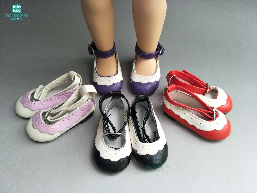 6.5cm fashion Pink \ white \ red toys shoes for salon doll and 1/4 BJD doll accessories