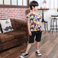 New Arrive Summer Baby Kids Short Sleeve T-shirt Toddler Child Bottoming Shirt Blouse Boy Kids Character Cotton O-Neck Pullovers
