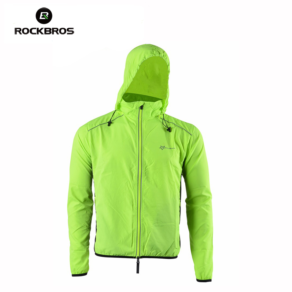ROCKBROS Bike Cycling Jersey with Hood Outdoor Sports Reflective Wind Coat Windproof Long Sleeve Bicycle Jersey Jacket Clothing rockbros titanium ti pedal spindle axle quick release for brompton folding bike bicycle bike parts