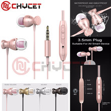 Chycet 3.5mm Metal Magnetic In-Ear Earphone For iPhone 4 4S 5 6 7 Plus Samsung LG Xiaomi Mp3 MP4 PC Game Anti-sweat Earphones
