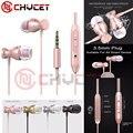 Chycet 3.5mm magnética de metal en la oreja los auriculares para el iphone 4 4s 5 6 7 plus samsung lg xiaomi mp3 mp4 juego de pc anti-sudor auriculares