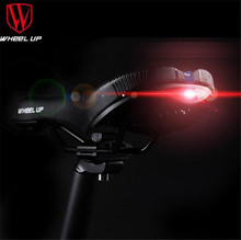 Wheel Up MTB PVC Bike Saddle With Tail Light Leather Road Bike Saddle For Men Soft Spare Parts For Cycling Seat Saddle bike saddle with tail light mtb bike leather rail hollow gear soft bicycle taillight cycling seat saddle cover