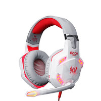 Red G2000 Cool Backlight Wired Game Headset 3 5mm LED Stereo PC Headphone Speakers Microphone Stereo