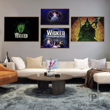 Custom WICKED Musical Broadway Home Decor Canvas Printing Silk Fabric Print  Wall Poster No Frame 180317