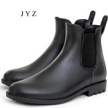 Fashion New Mens Rain Boots Fishing Water Shoes Flats Waterproof Ankle Hightops 2017 Summer Anti Skid bb0446