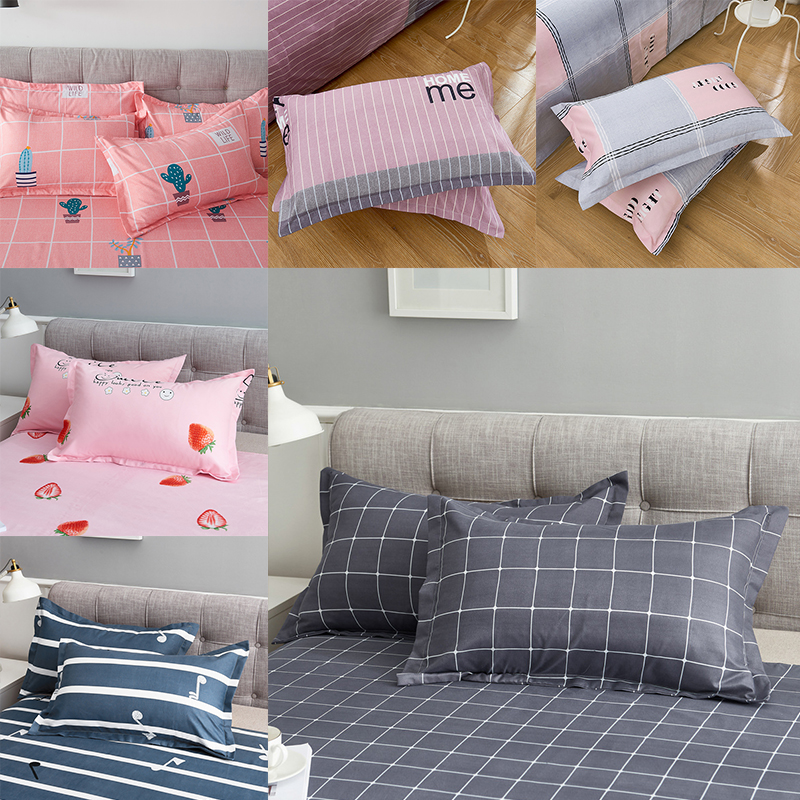 Free Shipping 100% Polyester Pillowcase 74*48cm Pillowcase With 16 Patterns Optional For Home Bed Decorative Pillow Cover Case