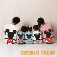 1 Pcs Family Look Matching Clothing Outfits Short Sleeve Mouse T Shirt Clothes Tee For Mother