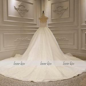 Image 5 - Lover Kiss Vestido De Noiva Luxury Sparkle Wedding Dresse 2020 Lace Beaded Cap Sleeves Princess Bridal Gowns Robe De Mariee