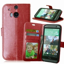 New High grade leather TPU wallet phone Cases For HTC One M8 M8t M8s M8e Case