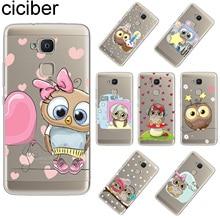 ciciber Cute Owl For BQ Aquaris U2 C U X5 V VS X2 X M Plus Lite Pro Soft TPU Phone Case For BQ E5s M5 M5.5 E4.5 M4.5 Coque Capa bq m5