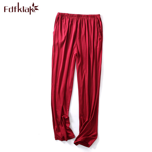 Fdfklak L XL XXL 3XL 4XL Plus Size Modal Spring Summer Ladies Pajama Pants Cotton Pajama Bottoms Pyjama Pants Sleeping Pant Q524