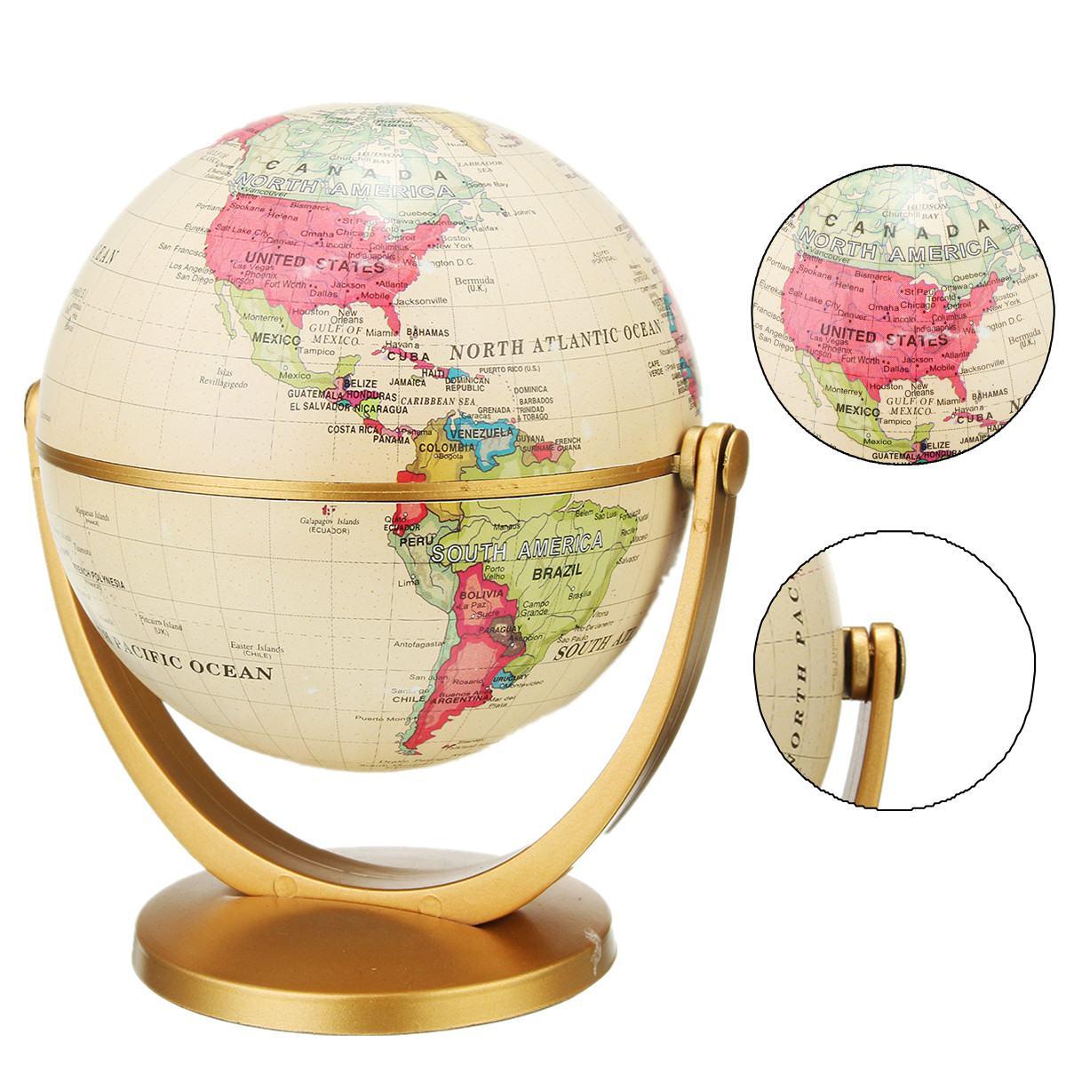 Ретро вращающийся мир Глобус земля античный домашний офис Настольный Декор география образовательная обучающая Карта школьные принадлежности