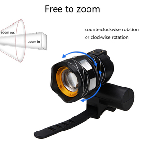 Image 2 - T6 LED USB Line Rear Light Adjustable Bicycle Light 3000mAh Rechargeable Battery Zoomable Front Bike Headlight Lamp