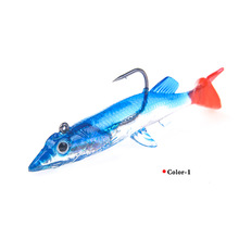 3pcs/lot professional lifelike Soft bait 7.5cm 6.6g high quality fishing lures minnow Metal hook 2019 HOT lure