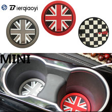 For MINI Cooper R60 R56 R50 R53 R55 F55 F56 Car Sticker Water Cup Holder Pad Mat For MINI F60 Countryman F54 Clubman Accessories sun protection cool hat car logo for mini cooper s r53 r56 r60 f55 f56 r55 f60 clubman countryman roadster paceman car styling
