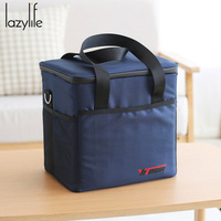 LAZYLIFE 18L Top Quality Fashion Portable Insulated lunch Bag Thermal Food Picnic Lunch Bags for Women kids Men Cooler Lunch Box
