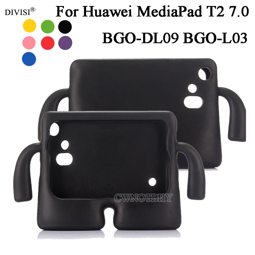 New 3D Kids Cute Cartoon Shockproof EVA Silicone Stand Case For Huawei Mediapad T2 7.0 BGO-DL09 BGO-L03 Tablet Case+Pen