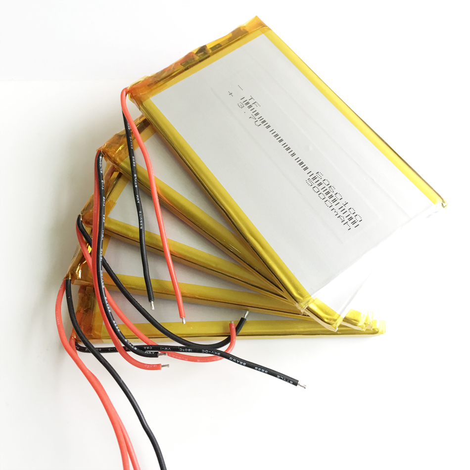 5 pcs 3.7V 5000mAh <font><b>6060100</b></font> Polymer Lithium LiPo Rechargeable Battery For GPS PSP DVD PAD e-book tablet pc power bank Laptop image