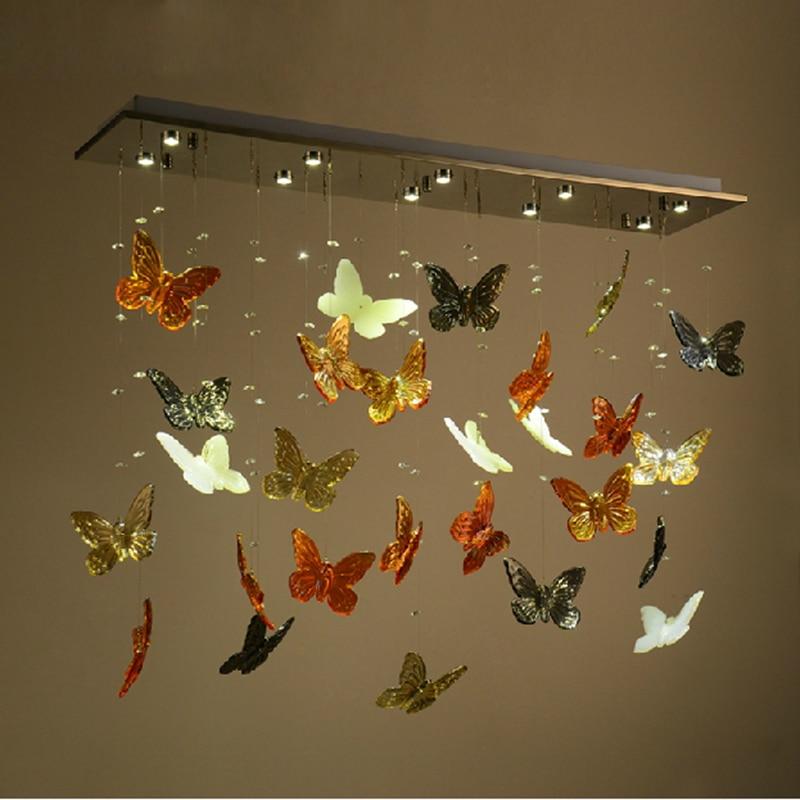 Decorative Modern LED Crystal Ceiling Lights Fixture Glass Lustres ...