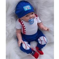 Großhandelspreis 20 Zoll Reborn Baby Junge Lebensechten Silikon Babies Newborn Real Touch Baseball Puppe Mit Haar Kinder Geburtstagsgeschenk