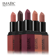IMAGIC Velvet Matte 6 Colors Lip Stick Silky Temptation Rouge Waterproof Long-lasting Batom Hot Sexy Colors Lipstick Make Up