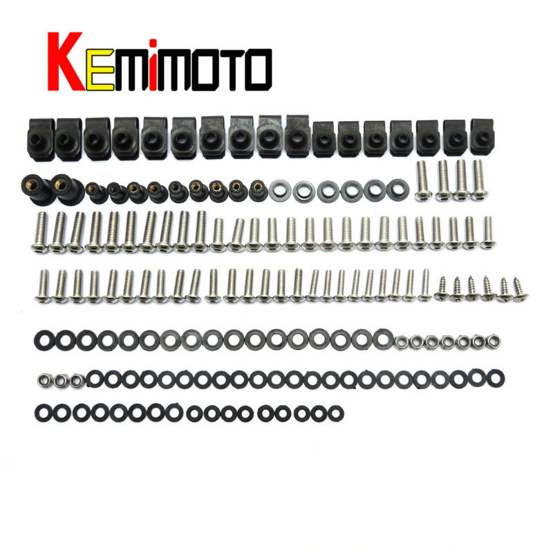 For Ducati 03-06 749 999 Motorcycle Fairing Bolt Screw Fastener Nut Washer For Ducati 749 999 2003 2004 2005 2006