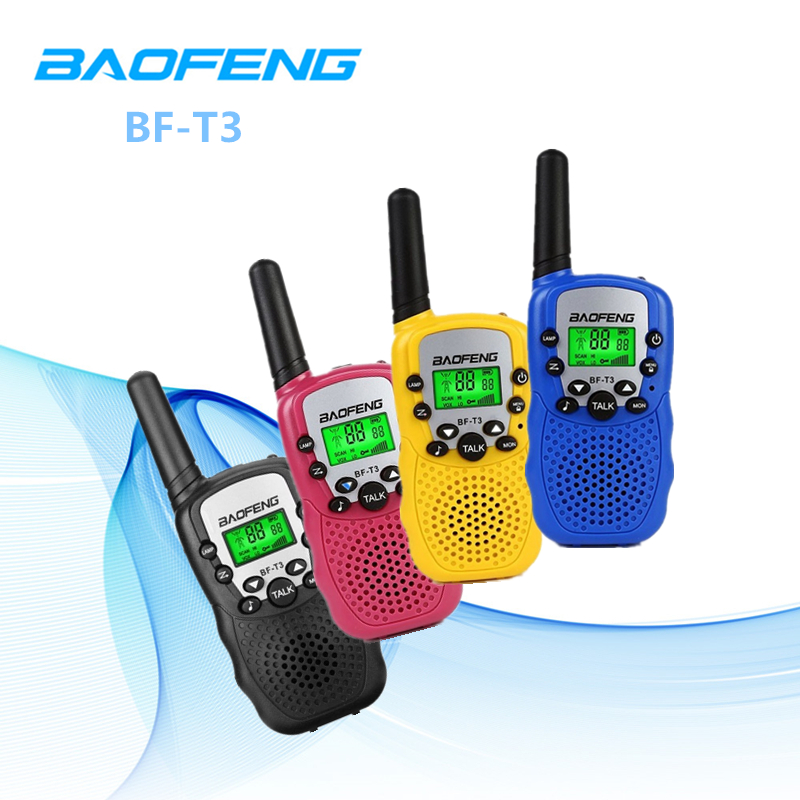 2PCS Baofeng BF T3 Portable Walkie Talkie Two-way Radio 22 CH 3-10KM Talk Range Interphone For Kids Adults Outdoor Adventure