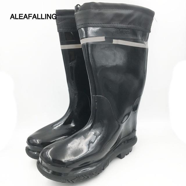 9f472d5cca4 Aleafalling Men's black mining boots non slip safety wear resistant ...