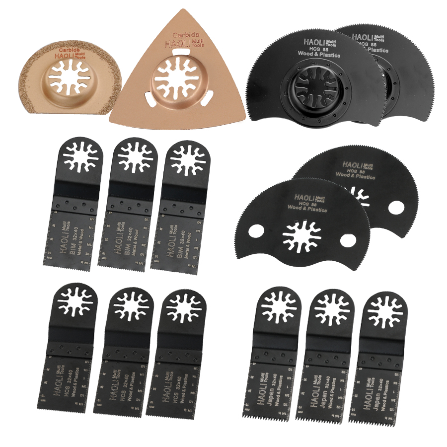 FREE SHIPPING: (15pcs/set) Wood working Oscillating Multi tools Saw Blades Accessories fit for Multimaster power tools as Dremel 10pcs jig saw blades reciprocating saw multi cutting for wood metal reciprocating saw power tools accessories rct