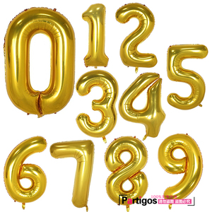 Image 2 - 10pcs Slim Number Balloons 40Inch foil number 1th Happy Birthday Party decor Wedding Anniversary Supplies Helium Air Globos