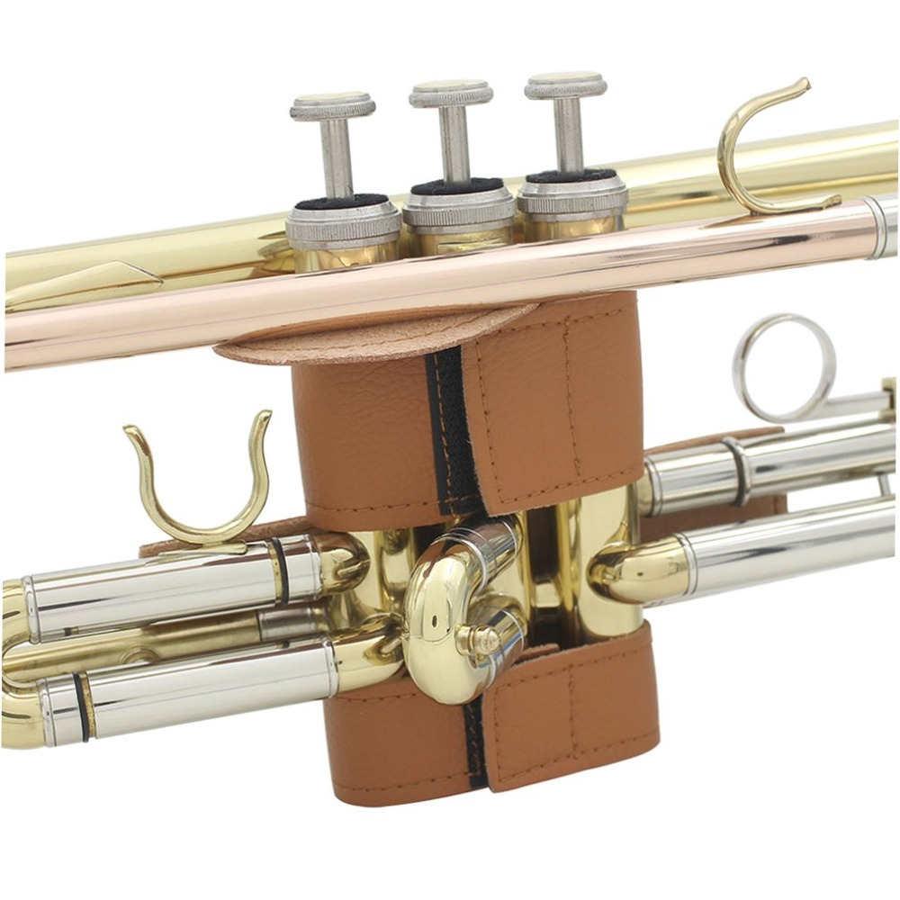 Trumpet-Parts-Accessories Protective-Cover Brown Professional Brass Soft-Synthetic-Leather