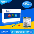 Fenvi portátil dual band 300 mbps wlan bluetooth para intel wireless-n 7260 7260ngw um wifi bt 4.0 2.4 ghz/5 ghz 802.11n placa de rede