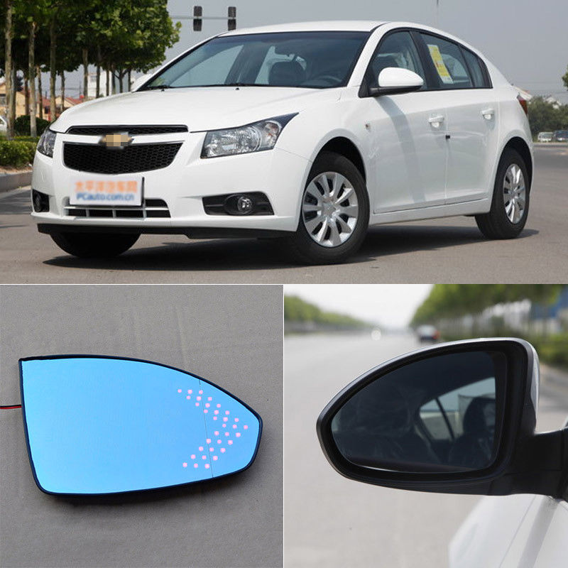 Car Rearview Mirror Blue Glasses LED Turning Signal Light with Heating For Chevrolet Cruze for volkswagen sagitar brand new car rearview mirror blue glasses led turning signal light with heating
