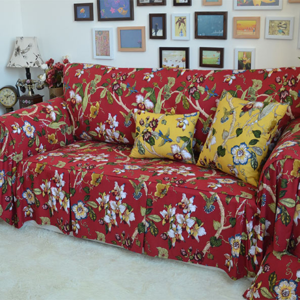 Wondrous American Country Style Flowers Bird Decorative Sofa Cover Spiritservingveterans Wood Chair Design Ideas Spiritservingveteransorg