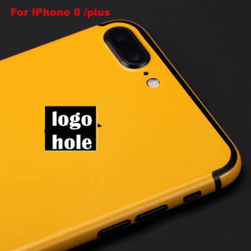 For iphone8 plus Yellow back film 3 parts Protective cover stickers for iPhone 8 8 plus Color back film Paster Decorative film