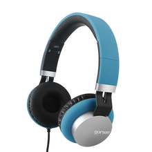 Cascos con cable para jugar GS789, auriculares plegables ajustables por encima de la oreja, música estéreo Hifi 3D