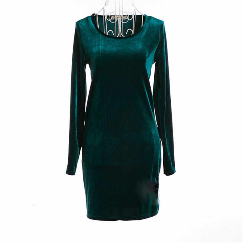 3333f2ba61 Vintage Winter Vestidos Velvet Dresses Elegant Slim Casual Autumn Women  Wine Red Robe Gowns Clothing Long Sleeve Plus Size S211