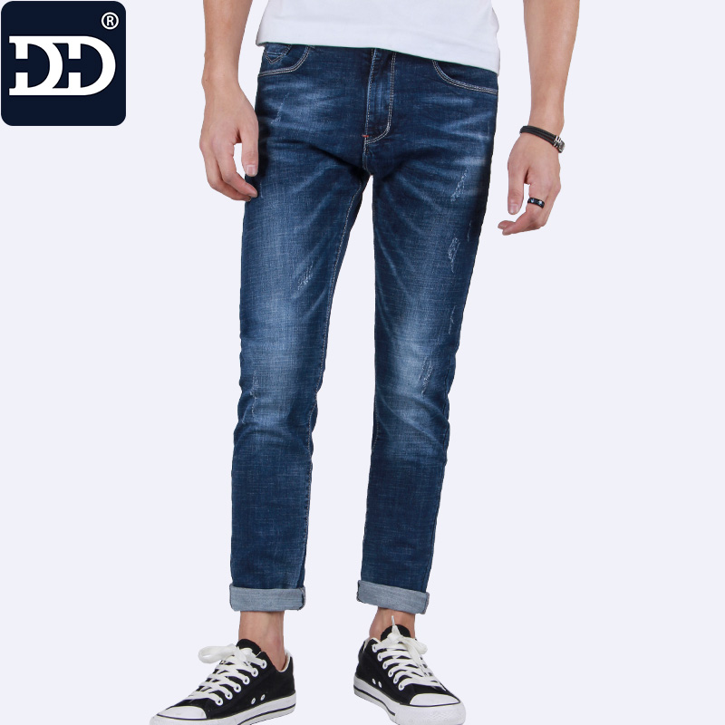 2017 New Mens Pants Blue Male Denim Jeans Homme Straight Jeans Fashion For Men Casual Long Pants Men 2016 hot sale straight jeans elastic mens outdoor leisure denim long pants men youth fashion large size jeans homme
