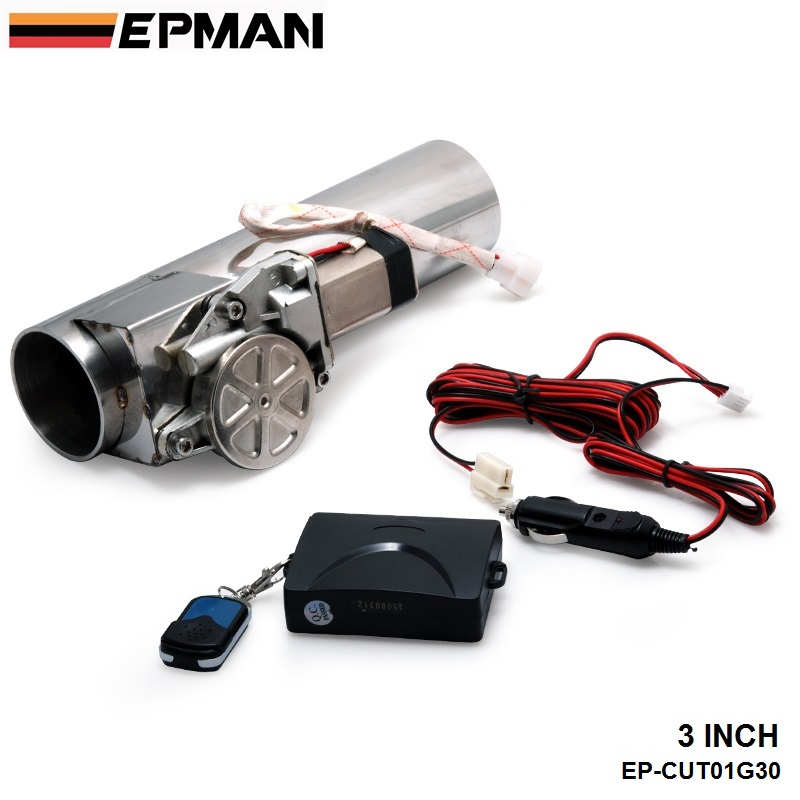 3.0 Electric I-Pipe Exhaust Downpipe Cutout E-Cut Out Valve System Kit+Remonte For VW PASSAT AUDI EP-CUT01G30 remonte кроссовки