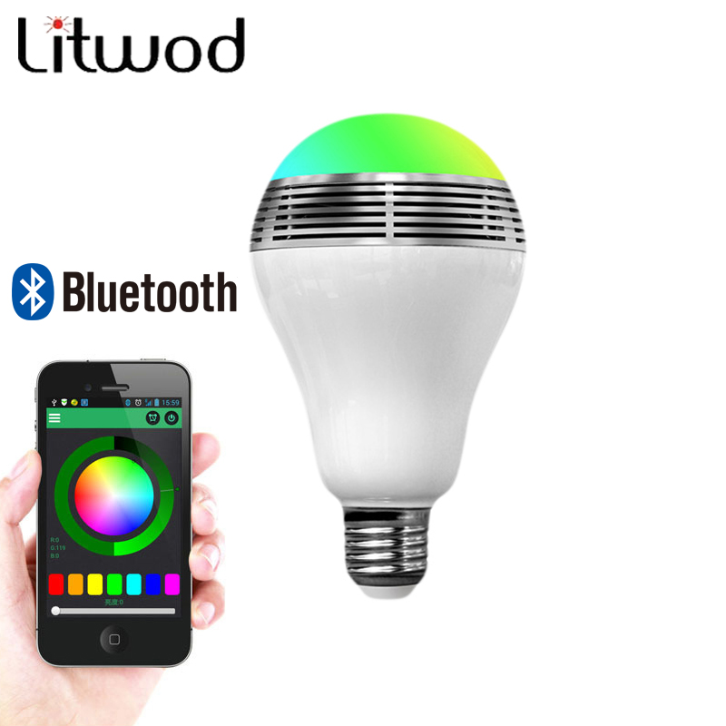 Z30 Smart LED Bulb Light RGB Wireless Bluetooth Speaker 85V-265V E27 3W Lamp Audio Loudspeaker for Android ISO iPhone iPad kmashi led flame lamp night light bluetooth wireless speaker touch soft light for iphone android christmas gift mp3 music player