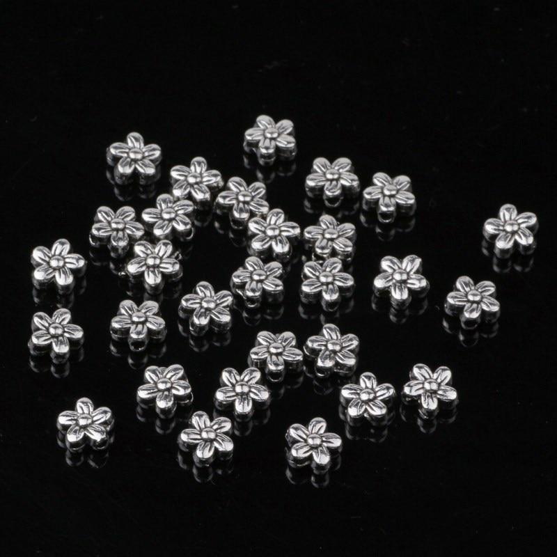 இ6 мм античный серебряный цветок Распорки Бусины ...