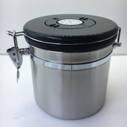 Realand Stainless Steel Coffee Canister Container Airtight Coffee Vault with Built-in CO2 Gas Vent Valve and Date Tracking Wheel