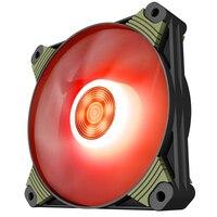 Aigo ICY X1 120mm Red LED Light Quiet 3pin 4pin High Airflow Fan Silent Case Fan